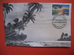 Papeete  YT N°30 CARTE MAXIMUM 2f. CARD PREMIER JOUR PAPEETE 1 Décembre 1964 - Cartes-maximum