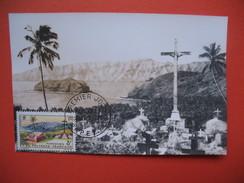 Papeete  YT N°33 CARTE MAXIMUM 8f. CARD PREMIER JOUR PAPEETE 1 Décembre 1964 - Cartes-maximum