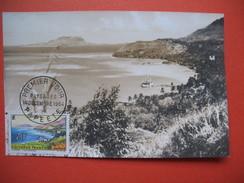 Papeete  YT N°34 CARTE MAXIMUM 20f. CARD PREMIER JOUR PAPEETE 1 Décembre 1964 - Cartes-maximum