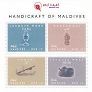 Maldives 2016, Handcraft, 4val In BF