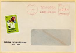 Very Very Rare Meter Mark Of World Cup Soccer Sweden 1958. Beautiful! - Coppa Del Mondo
