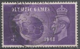 Great Britain 1948. Scott #272 (U) King George VI, Olympic Rings And Globe * - 1902-1951 (Rois)