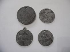 WW1 LOTTO DI N.4 MEDAGLIE MEDAL TRENCH ART CAMAPAGNA DI RODI-SPAGNOLA-A NOI. - Militari