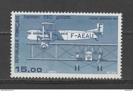 FRANCE / 1984-1987 / Y&T PA N° 57b ** : Farman F60 (papier Couché) - Gomme D´origine Intacte