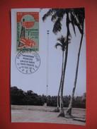 Papeete PA YT N°16 CARTE MAXIMUM 60f. CARD PREMIER JOUR PAPEETE 29 Décembre 1965 Cinquantenaire Première Liaison Radio - Cartes-maximum
