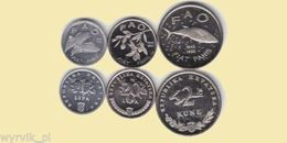 CROATIA Set Of 3 Coins FAO UNC - Kroatien