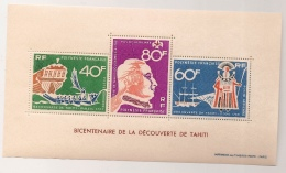 Polynésie - Bloc Feuillet N°Yv. 1 - Découverte De Tahiti  - Neuf Luxe ** - MNH - Postfrisch - Cote 185 EUR - Blocs-feuillets
