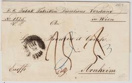 1851, Strahlen-Stp. Wien , #7501