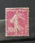 YT190 - 20c Type Semeuse - Oblitéré - Lilas Rose