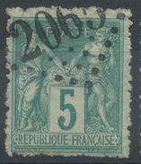 Lot N°34988   N°75, Oblit Jour De L'An, GC 2065 LIZY-S-OURCQ (73) - 1876-1898 Sage (Type II)