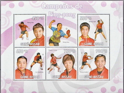 Guinea-Bissau MNH Table Tennis Sheetlet And SS