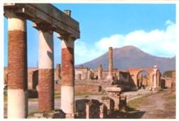 Napoli - Lotto 2 Fotografie POMPEI: FORO PORTICO ORIENTALE, CALCO DI FIGURA FEMMINILE - PERFETTA N33 - Riproduzioni