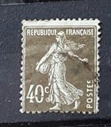 YT193 - 40c Type Semeuse - Oblitéré - Brun Olive