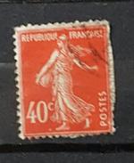YT194 - 40c Type Semeuse - Oblitéré - Vermillon