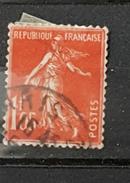 YT195 - 1f05 - Type Semeuse - Oblitéré - Vermillon
