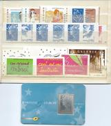 FRANCE - ANNEE 2008 - Tous Les Adhésifs émis Par Feuille Soit 28 Timbres + 12 De Carnets Et 1 Tbr Argent. - Adhesive Stamps
