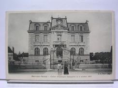 10 - BAR SUR SEINE - CAISSE D'EPARGNE INAUGUREE LE 4 OCTOBRE 1903 - ANIMEE - DOS SIMPLE - TRES BEL ETAT - Bar-sur-Seine