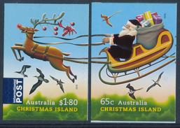 CHRISTMAS ISLAND (Australia) 2016 Christmas Adhesive Set Of 2v**