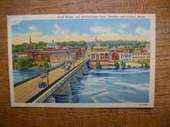 états-unis , North Bridge Over Androscoggin River , Lewiston And Auburn , Maine - Lewiston