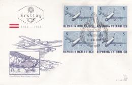 Austria FDC 1968 Internationale Flugpost Ausstellung (T8A3)
