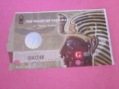 Ticket D'entrée Égypte Egypt-The Valley Of The Kings 3 Tombs =>تذاكر مبا