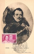 FRANCE Carte Maximun N° 463.B.Ed Bulloz Pt Ft Vert Brun(portrait Boulanger).1.Obl Sp Ill Provins 30 04 1950 Expo Balzac - 1950-59