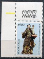 1688 - MONACO  N°1997 **  800é Anniversaire De La Naissance De St Antoine De Padoue ( 1195-1231 )  1995  SUPERBE - Ungebraucht
