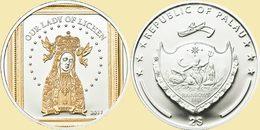 PALAU 2011 2 $ Dollars Our Lady Of Lichen Ag CoA UNC - Palau