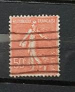 YT199 - 50c Type Semeuse Lignée - Oblitéré  - Rouge -