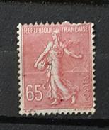 YT201 - 65c Type Semeuse Lignée - Oblitéré  - Rose