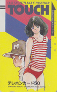 Télécarte Ancienne Japon / 110-4225 - MANGA By MITSURU ADACHI - TOUCH / BASEBALL - Japan Front Bar Phonecard / A - 7670 - Cinema
