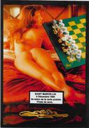 CPM LARDIE Jihel Tirage Signé Numéroté En 30 Ex. Salon Pirate Saint Marcellin 1990 échecs Chess Nu Féminin - Bourses & Salons De Collections