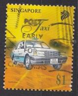 790 Singapore 1997 Trasporti Taxi Auto Viaggiato Used
