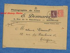 Enveloppe Ancienne Avec Timbre - MAUBEUGE - Photographie De Luxe E. Desmarez - 9 Rue De La République