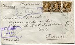 CANADA LETTRE RECOMMANDEE DEPART RIVERGLADE JUN 13  17 POUR LA FRANCE - 1911-1935 Reign Of George V