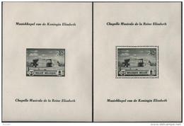 BELGIQUE Bloc Feuillet 13 Et 14 ** MNH Chapelle Musicale De La Reine Elisabeth (CV 20 €)