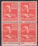 1938 - Bloc De 4 Timbres Neuf ** - Y & T 387 - Série Courante -  A. Johnson  -