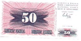 Billete Bosnia-Herzegovina. 50 Dinares 1992. (ref. 6-587) - Bosnia Y Herzegovina