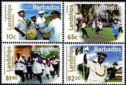 Barbados - 2016 - Landships Of Barbados - Mint Stamp Set