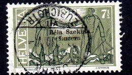 BELA SZEKULA LUZERN, 1919  Used Stamps   (ch298)