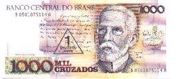 Billete Brasil. 1000 Cruzados, Retimbre 1 Cruzado Novo. (ref. 6-732) - Brasil