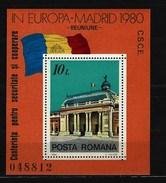 RUMÄNIEN - Block Nr. 174 Konferenz über Sicherheit Und Zusammenarbeit In Europa (KSZE), Madrid Postfrisch