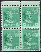 1938 - Bloc De 4 Timbres Neuf ** - Y & T 383 - Série Courante -  M. Fillmore   -