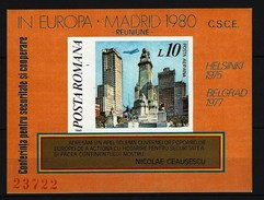 RUMÄNIEN - Block Nr. 175 Don-Quichotte-Denkmal An Der Plaza De España, Madrid Postfrisch