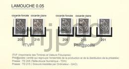 Lamouche  Variétés Sur 0,05€   5 Timbres Neufs Avec Support Cartonné