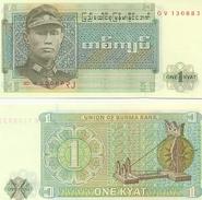 Billete Burna. 1 Kyat. (ref. 6-786) - Billetes