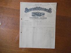 CLICHY LA GARENNE SEINE GEOFFROY & DELORE CABLES ET FILS CABLES ARMES 28 & 30 RUE DES CHASSES FACTURE DU 11 MAI 1914 - France