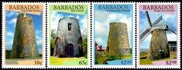 Barbados - 2015 - Windmills Of Barbados - Mint Stamp Set