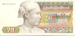 Billete Burna. P-N-65. 75 Kyats 1985 . (ref. 6-918) - Billetes