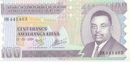 Billete Burundi. P-37. 100 Francos 01-05-2004 . (ref. 6bur-37) - Burundi